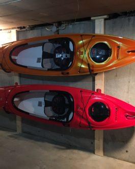 Brazos de pared para kayak o tablas