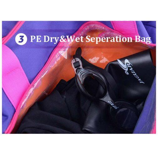 Bolso con separador de seco y mojado