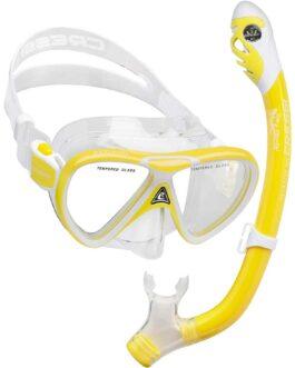 Set de máscara Pegaso y Snorkel Iguana Dry para chicos