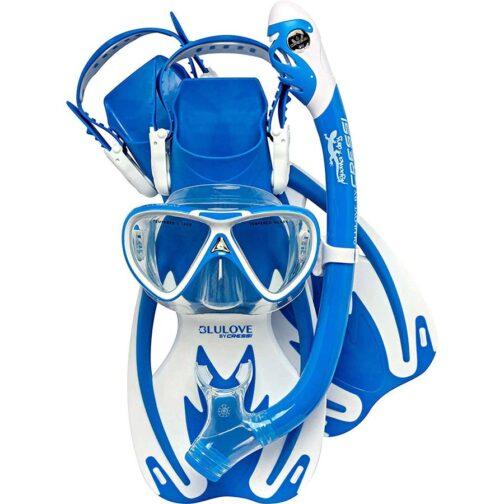 Máscara, snorkel y patas Rocks