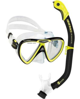 Set de máscara Ikarus y snorkel Orion Semi-Dry